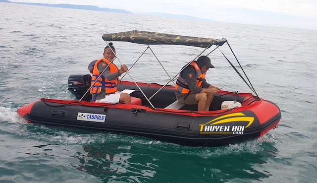 Bạt che Thuyền rằn ri phong cách bộ đội cụ hồ